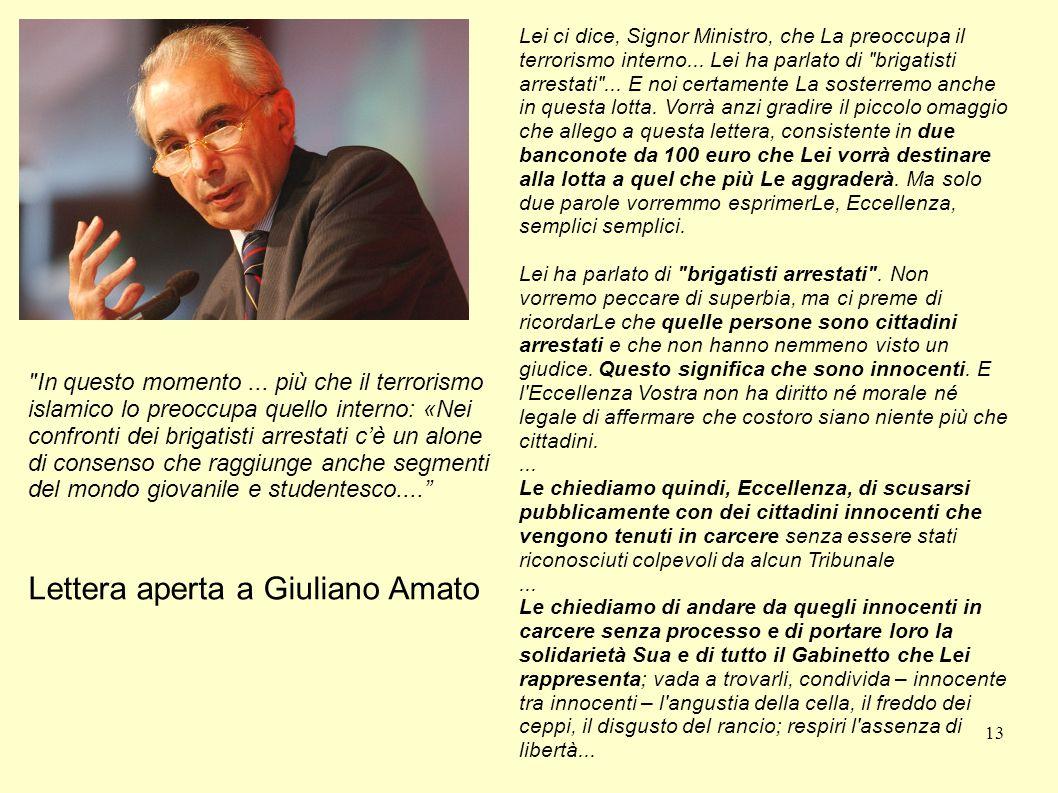 13 Lettera aperta a Giuliano Amato