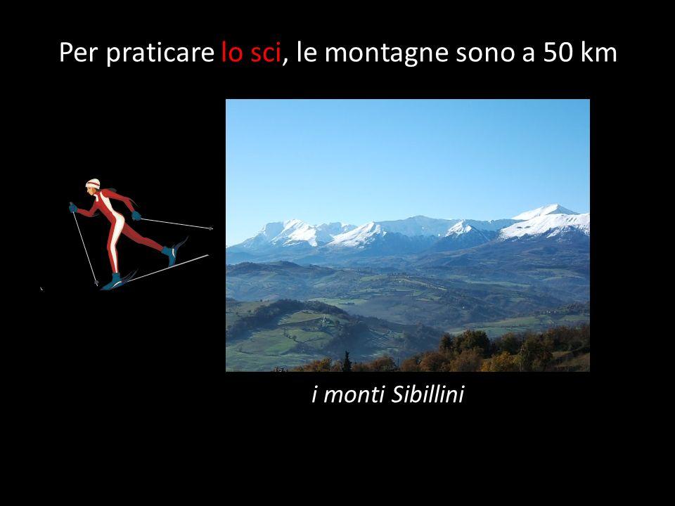Per praticare lo sci, le montagne sono a 50 km i monti Sibillini