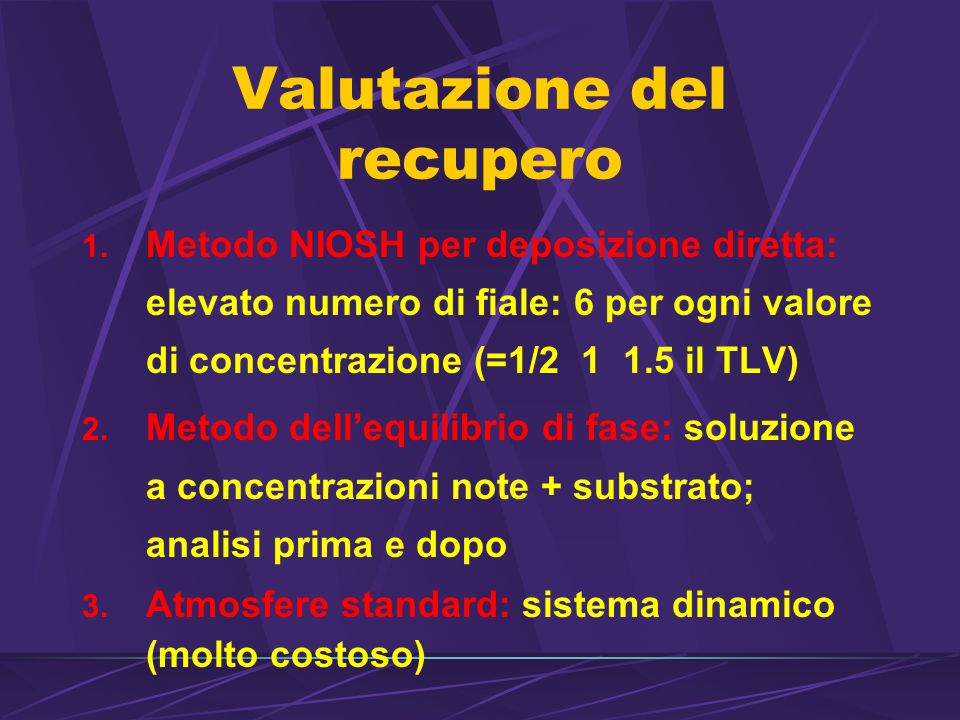 Valutazione del recupero 1.