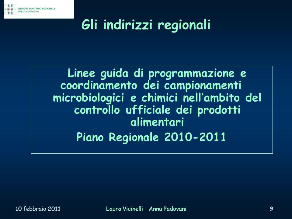 Grazie per lattenzione e buon lavoro 10 febbraio 2011Laura Vicinelli – Anna Padovani110