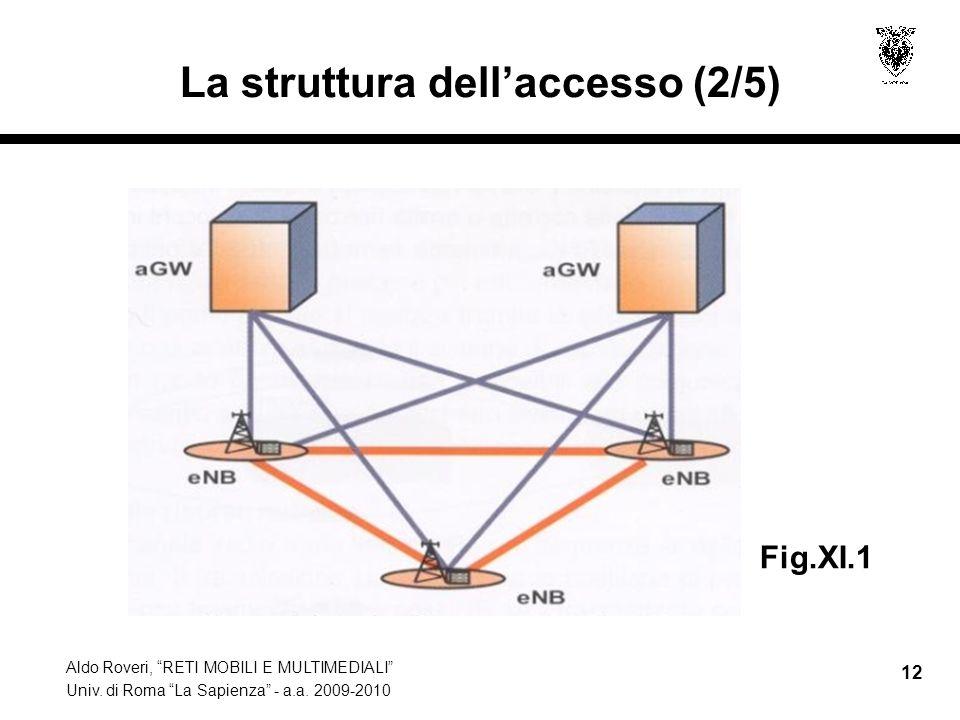 Aldo Roveri, RETI MOBILI E MULTIMEDIALI Univ. di Roma La Sapienza - a.a. 2009-2010 12 La struttura dellaccesso (2/5) Fig.XI.1