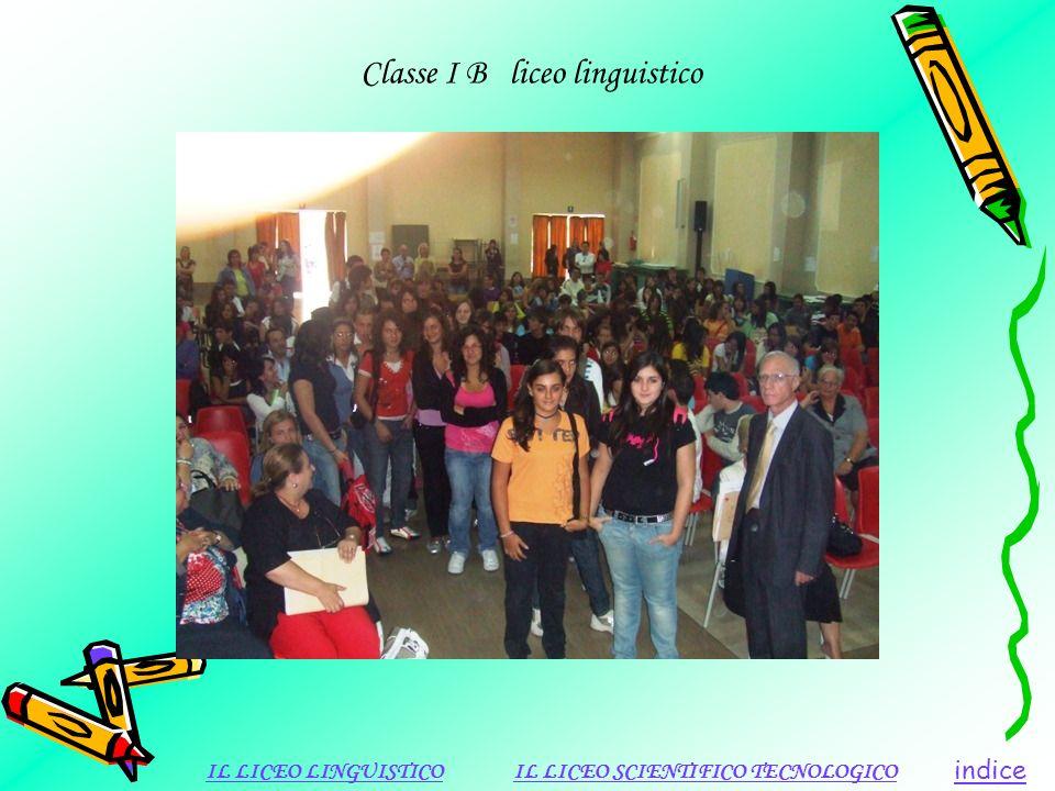 Classe I B liceo linguistico indice IL LICEO LINGUISTICOIL LICEO SCIENTIFICO TECNOLOGICO