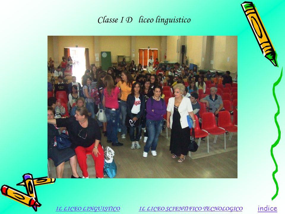 Classe I D liceo linguistico indice IL LICEO LINGUISTICOIL LICEO SCIENTIFICO TECNOLOGICO