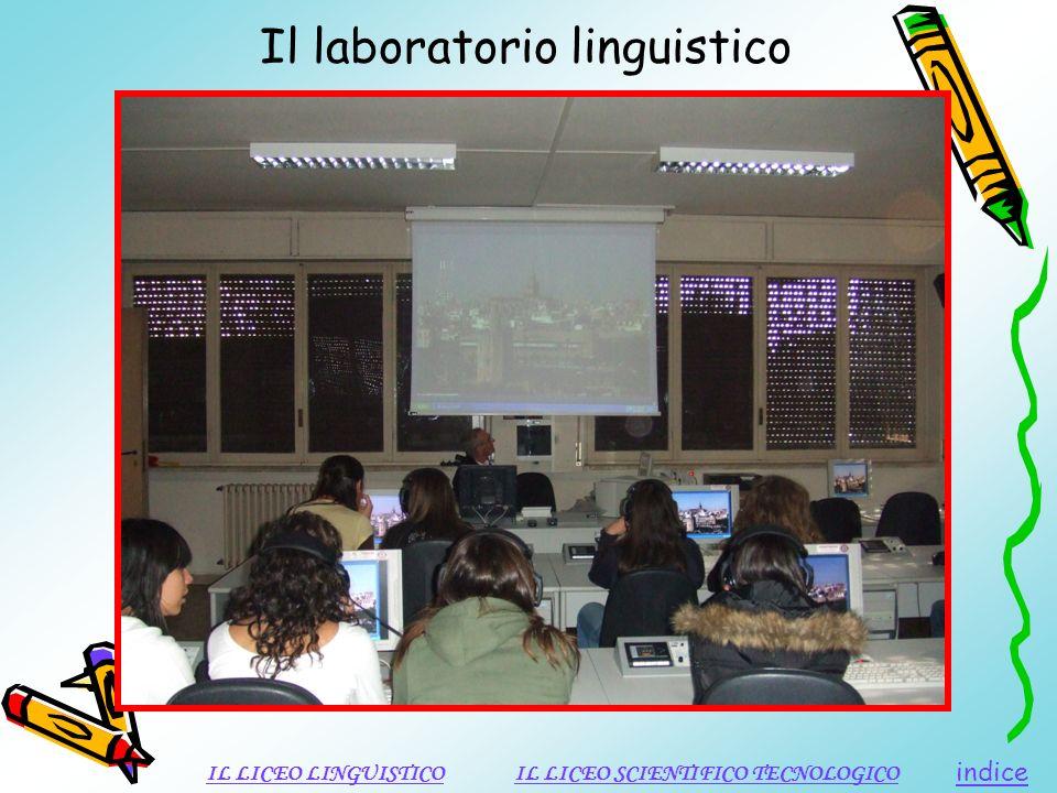 Il laboratorio linguistico indice IL LICEO LINGUISTICOIL LICEO SCIENTIFICO TECNOLOGICO