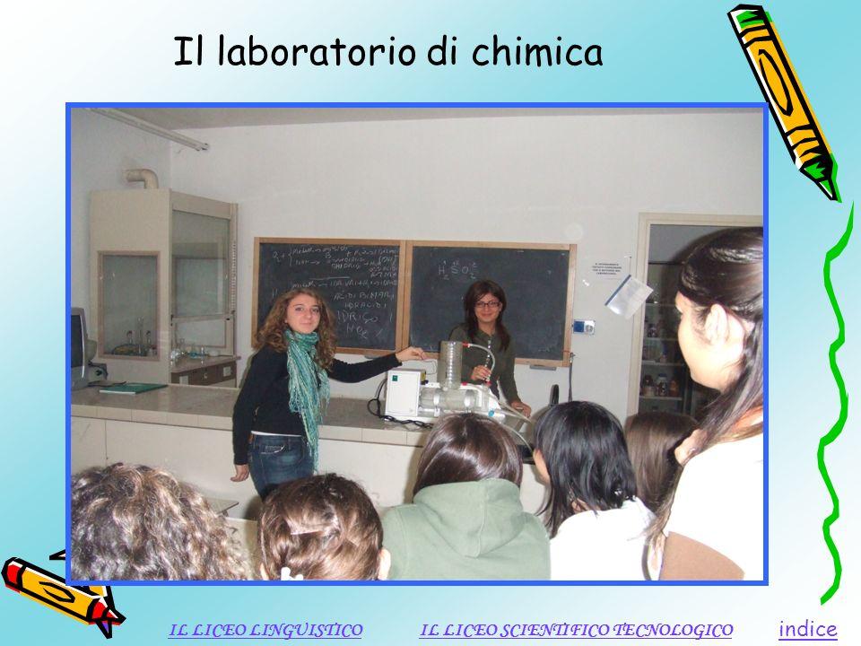 Il laboratorio di chimica indice IL LICEO LINGUISTICOIL LICEO SCIENTIFICO TECNOLOGICO