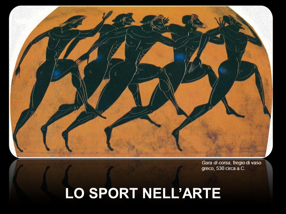LO SPORT NELLARTE Gara di corsa, fregio di vaso greco, 530 circa a.C.