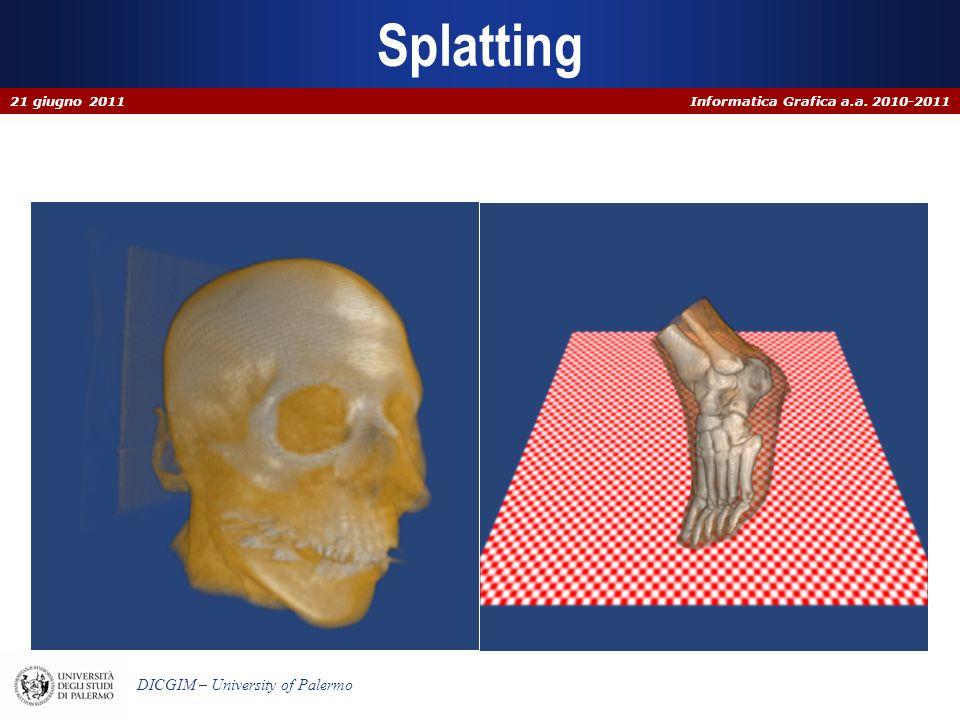 Informatica Grafica a.a. 2010-2011 DICGIM – University of Palermo Splatting 21 giugno 2011