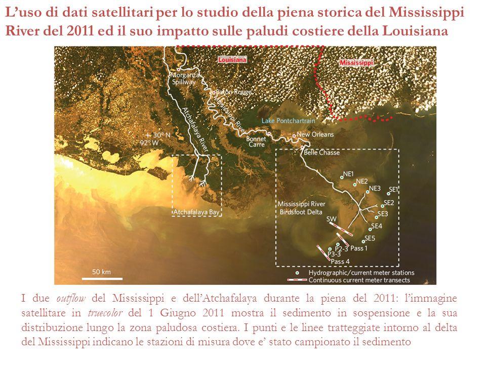 Luso di dati satellitari per lo studio della piena storica del Mississippi River del 2011 ed il suo impatto sulle paludi costiere della Louisiana I du