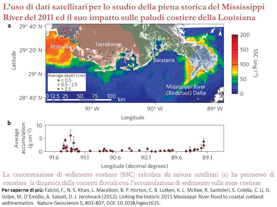 Luso di dati satellitari per lo studio della piena storica del Mississippi River del 2011 ed il suo impatto sulle paludi costiere della Louisiana La c