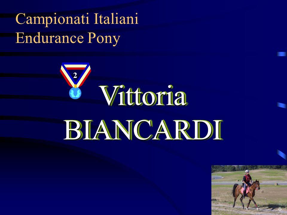 Campionati Italiani Endurance Pony VittoriaBIANCARDI Vittoria BIANCARDI 2