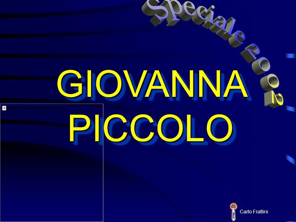 Carlo Frattini GIOVANNA PICCOLO GIOVANNA PICCOLO