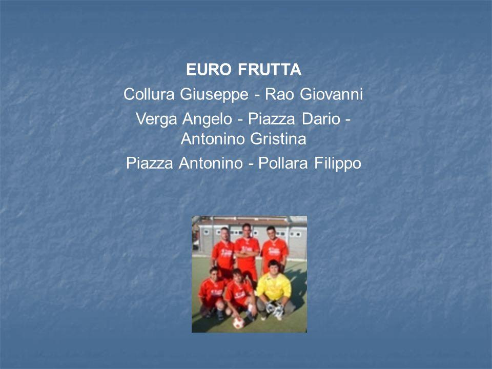 EURO FRUTTA Collura Giuseppe - Rao Giovanni Verga Angelo - Piazza Dario - Antonino Gristina Piazza Antonino - Pollara Filippo