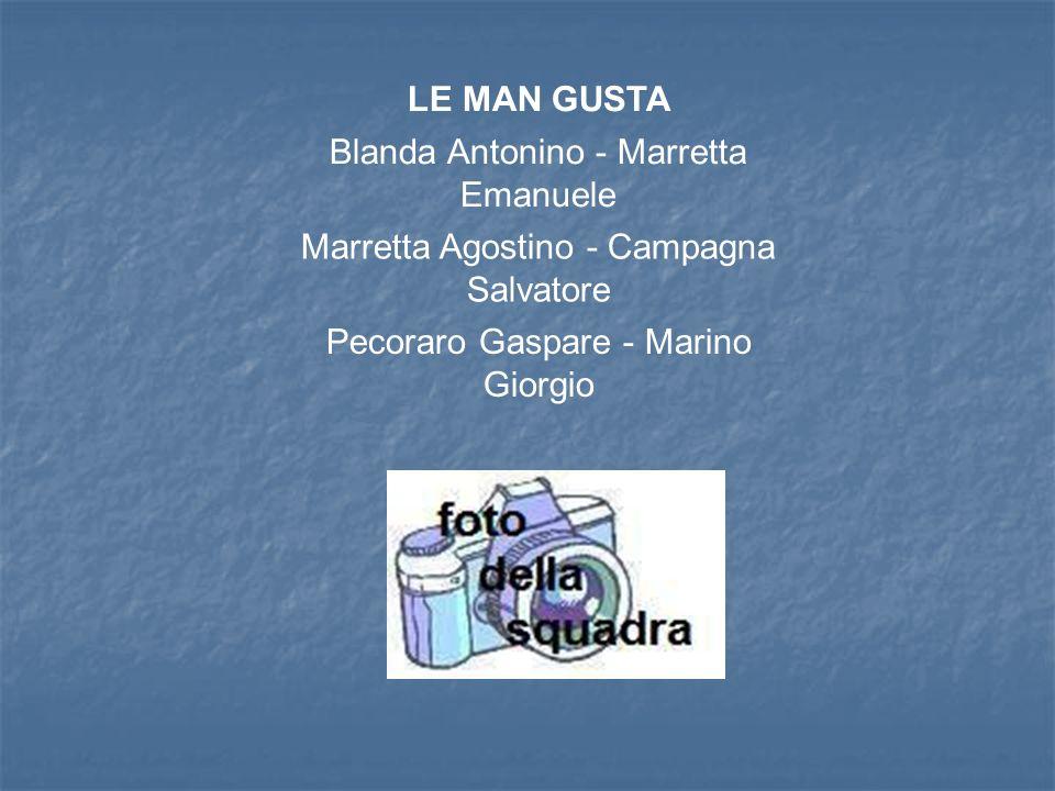 LE MAN GUSTA Blanda Antonino - Marretta Emanuele Marretta Agostino - Campagna Salvatore Pecoraro Gaspare - Marino Giorgio