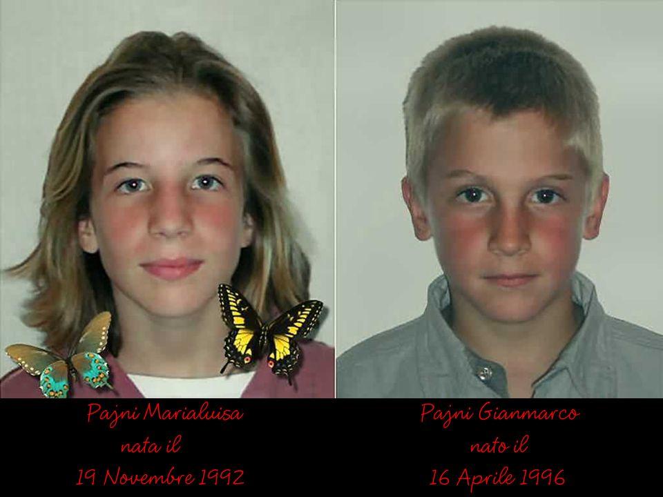 La Famiglia Pajni Lucato Stefania (mia figlia) Pajni Luigi (mio genero) Pajni Marialuisa (mia nipote) Pajni Gianmarco (mio nipote)