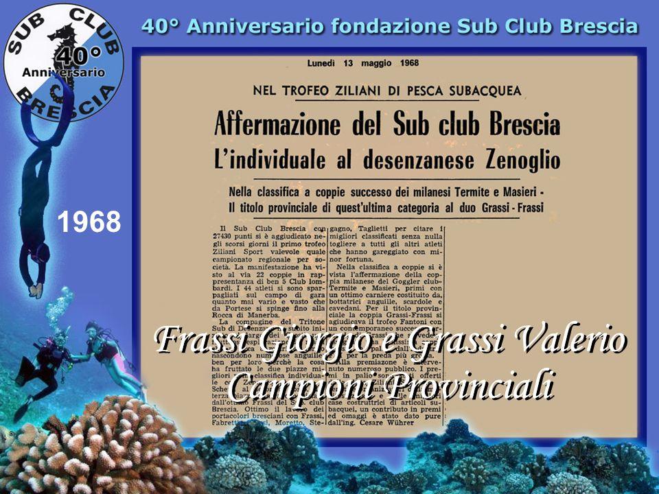 1967 1° Corso Istruttori Sub Club continua lavventura