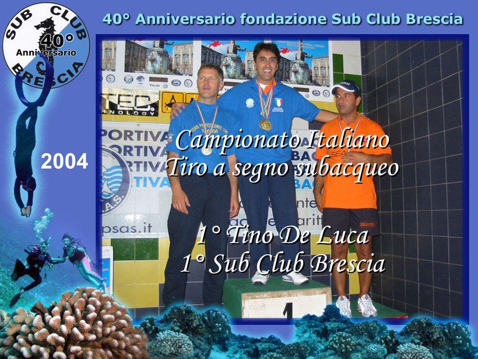 Tiro a segno subacqueo Tino De Luca 5 titoli Italiani dal 1998 a 2004 2004