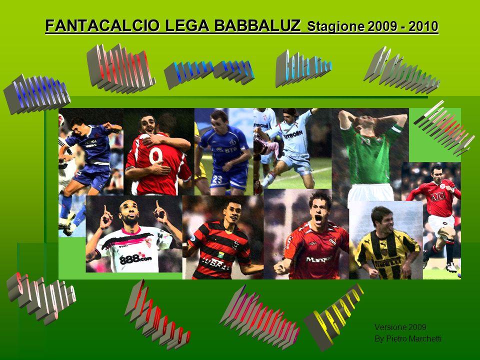 FANTACALCIO LEGA BABBALUZ Stagione 2009 - 2010 Versione 2009 By Pietro Marchetti