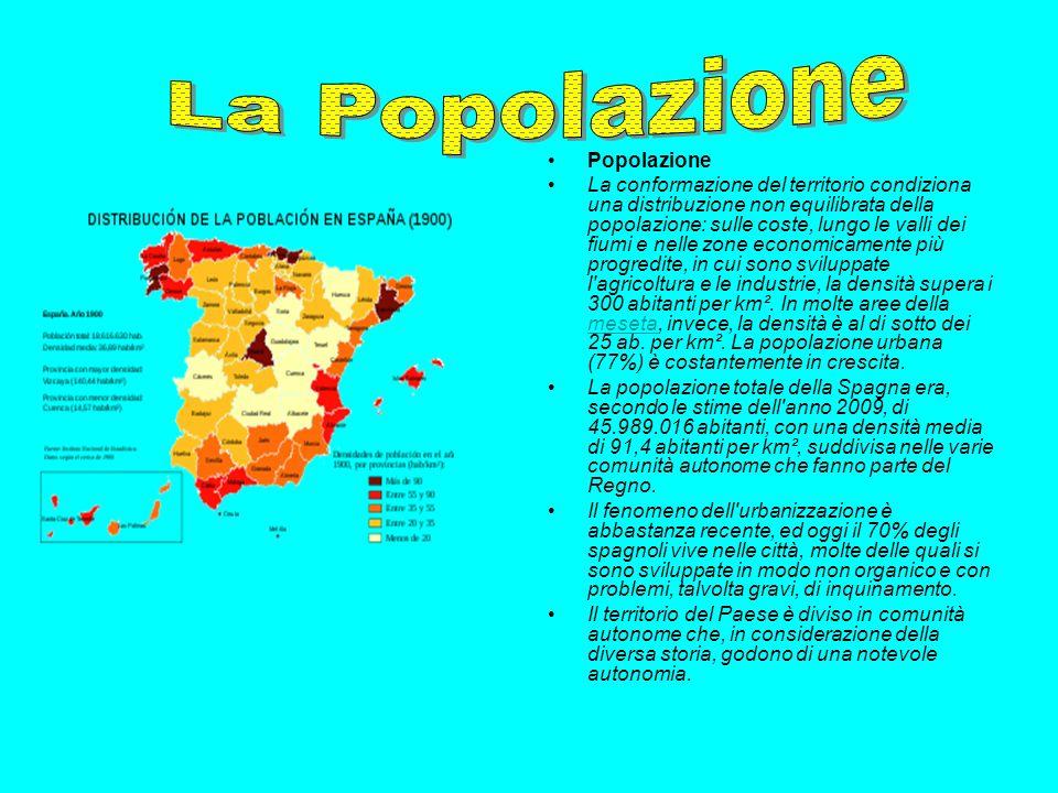Popolazione La conformazione del territorio condiziona una distribuzione non equilibrata della popolazione: sulle coste, lungo le valli dei fiumi e ne
