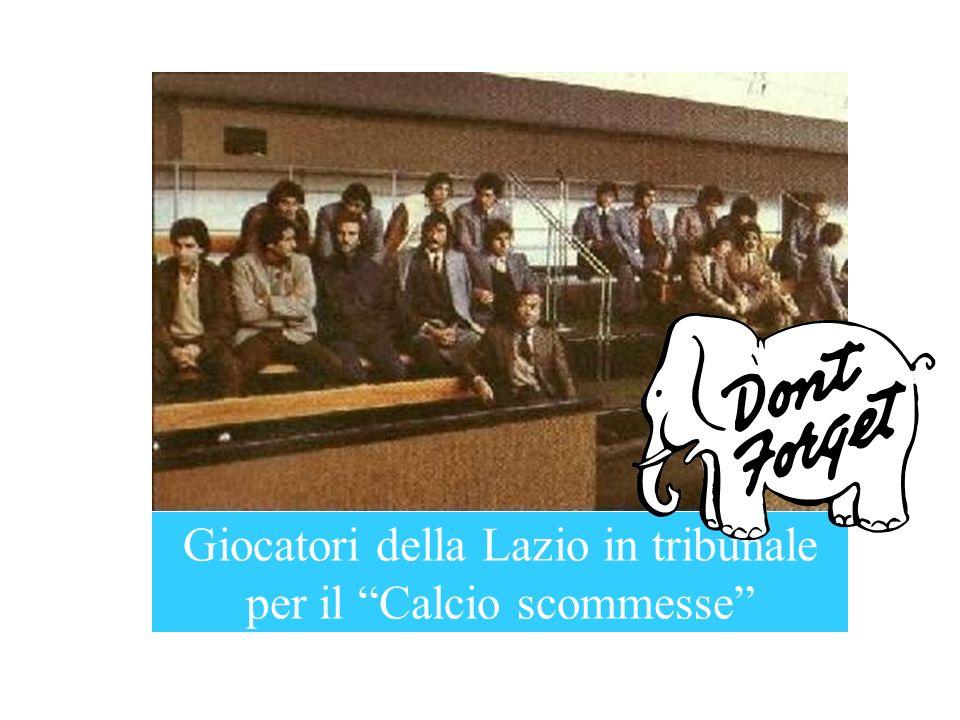 Giocatori della Lazio in tribunale per il Calcio scommesse