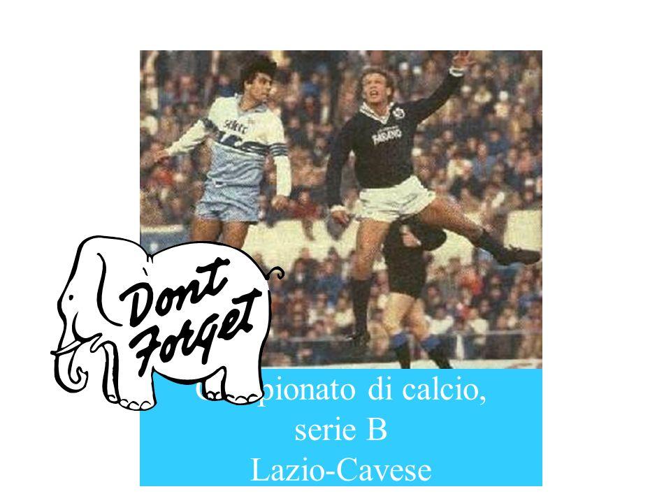 Campionato di calcio, serie B Lazio-Cavese