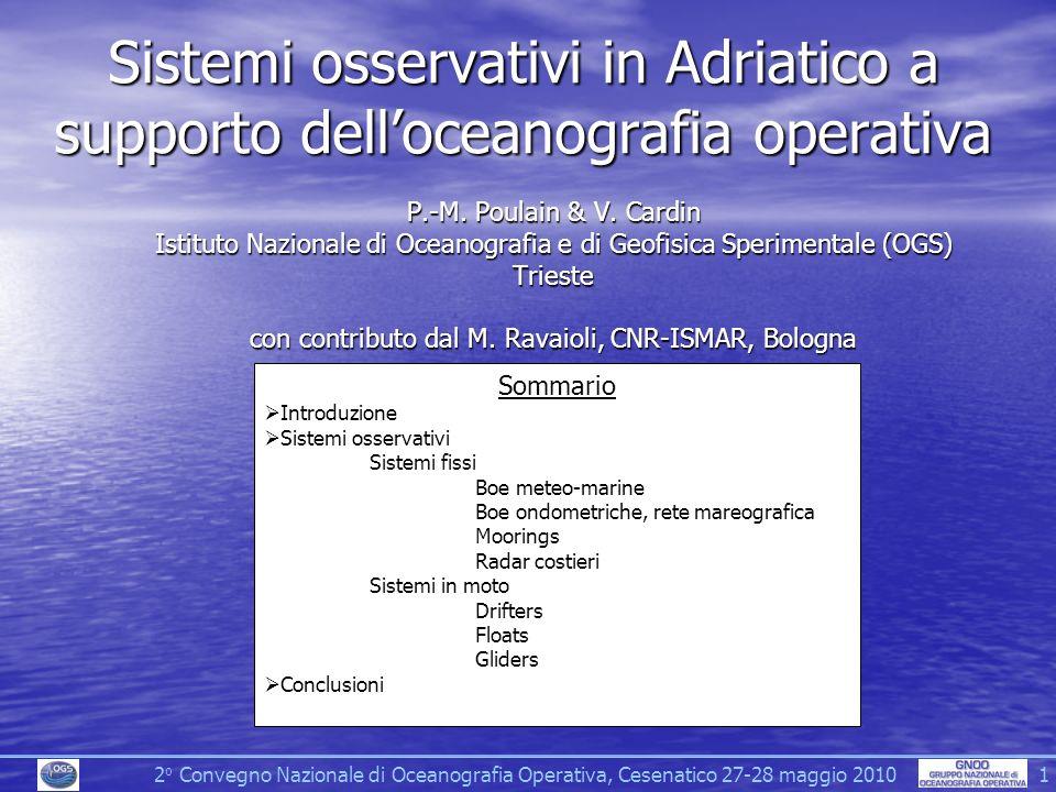 Sistemi osservativi in Adriatico a supporto delloceanografia operativa P.-M.