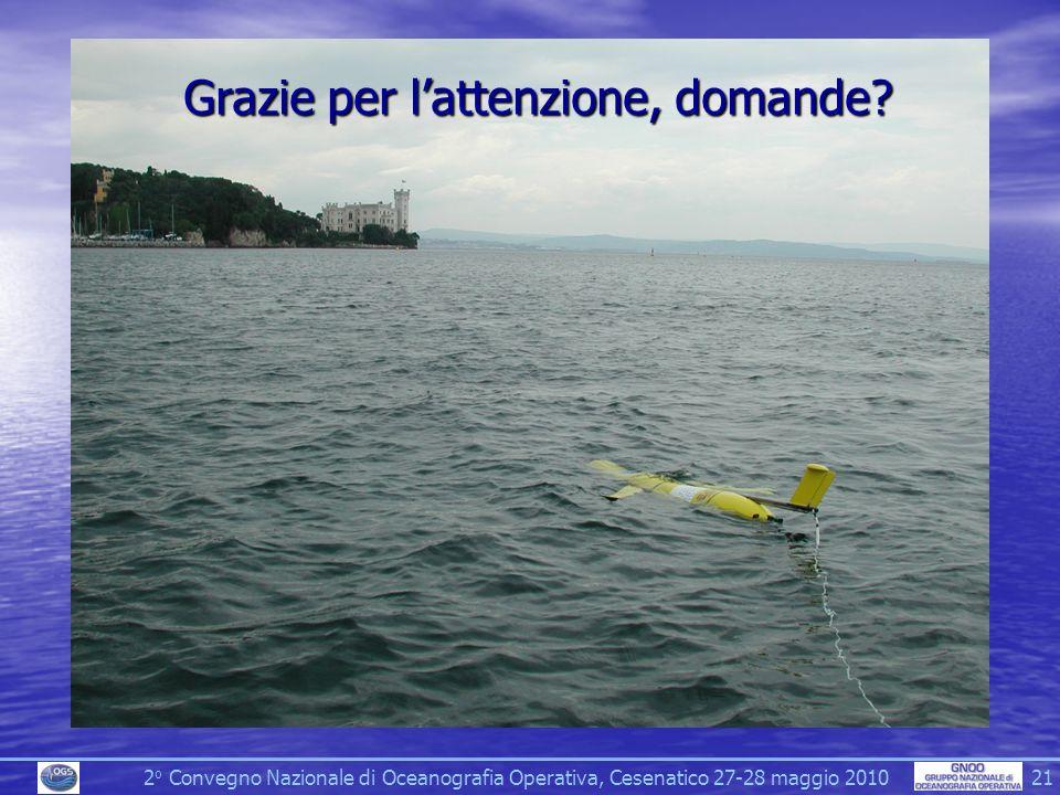 2 o Convegno Nazionale di Oceanografia Operativa, Cesenatico 27-28 maggio 2010 21 Grazie per lattenzione, domande?