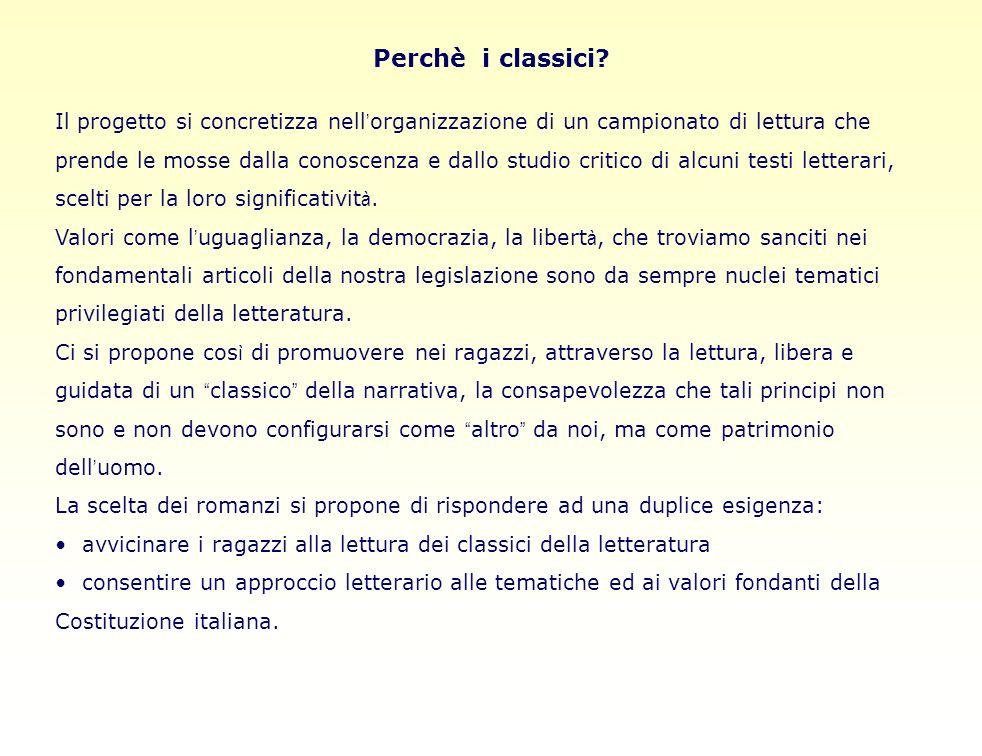 Perchè i classici.