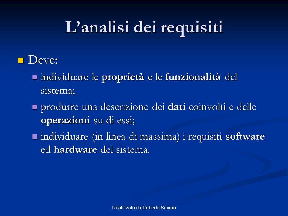 Realizzato da Roberto Savino Identificazione delle proprietà matricola studente cognome nome data_nascita anno_di_corso