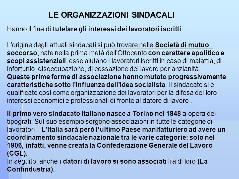 II primo vero sindacato italiano nasce a Torino nel 1848 a opera dei tipografi.