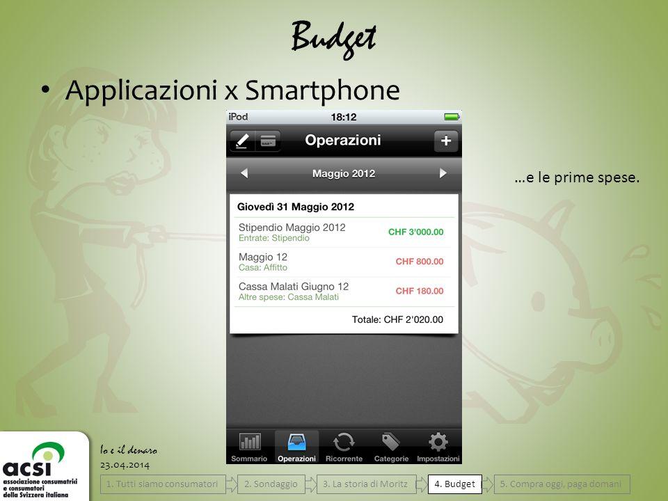 23.04.2014 Budget Io e il denaro Applicazioni x Smartphone …e le prime spese.