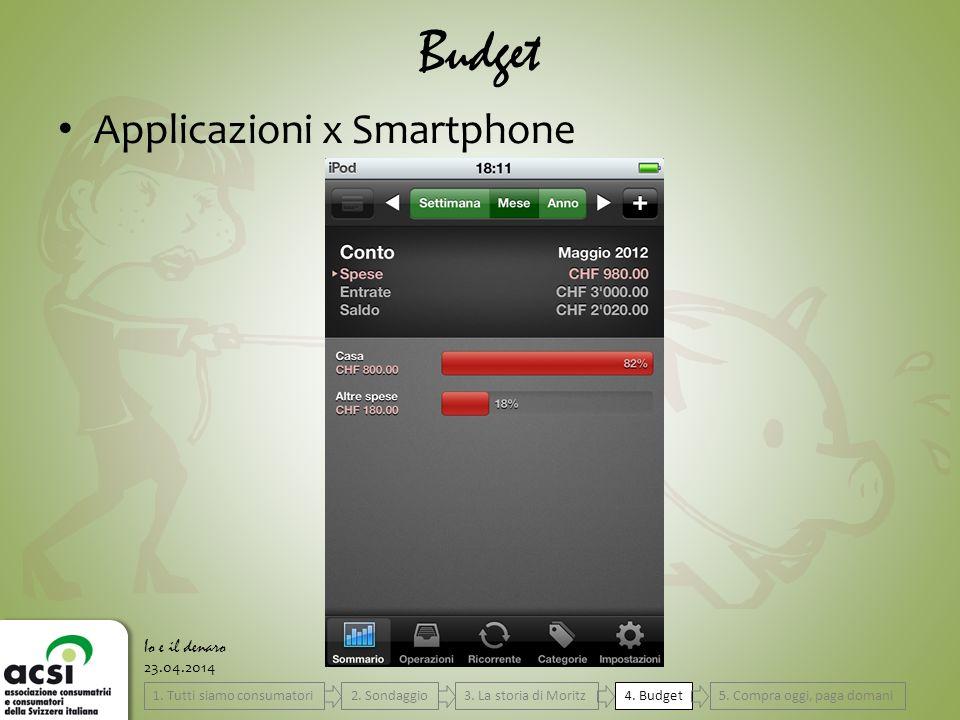 23.04.2014 Budget Io e il denaro Applicazioni x Smartphone 4.