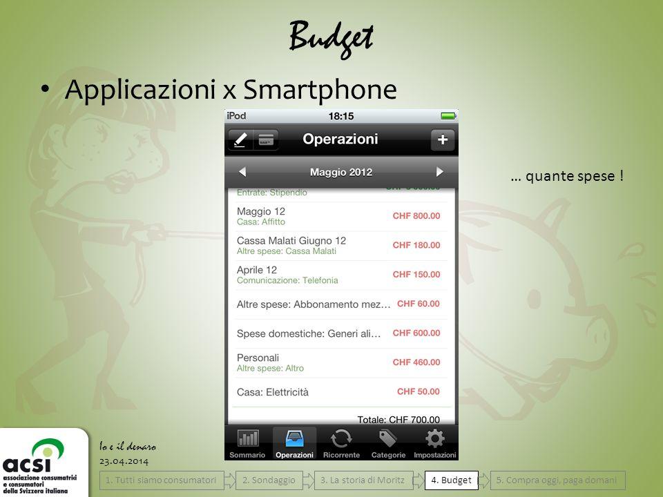 23.04.2014 Budget Io e il denaro Applicazioni x Smartphone … quante spese .