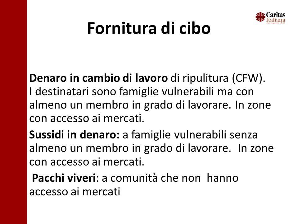 Fornitura di cibo Denaro in cambio di lavoro di ripulitura (CFW).