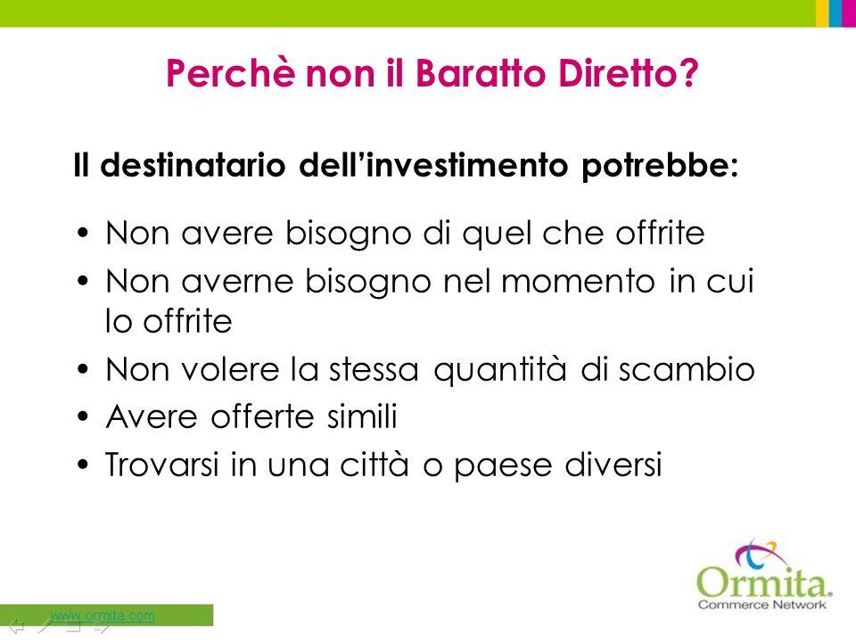 Il destinatario dellinvestimento potrebbe: Non avere bisogno di quel che offrite Non averne bisogno nel momento in cui lo offrite Non volere la stessa