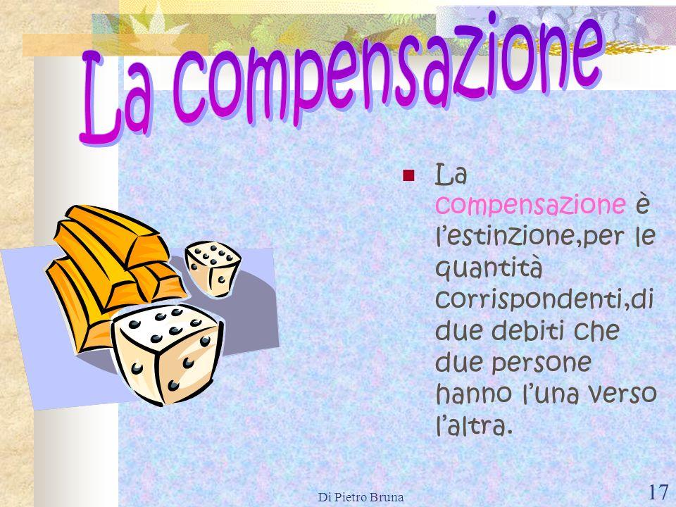 Di Pietro Bruna 16 Sono modi di estinzione dellobbligazione diversi dalladempimento: La compensazione; La confusione; La novazione; La remissione del