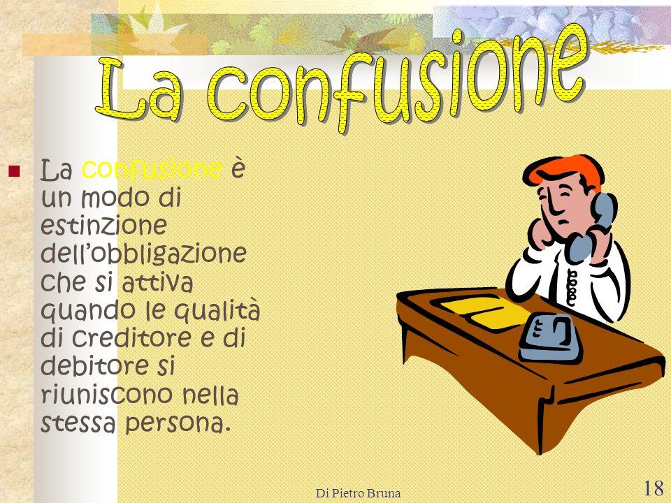 Di Pietro Bruna 17 La compensazione è lestinzione,per le quantità corrispondenti,di due debiti che due persone hanno luna verso laltra.