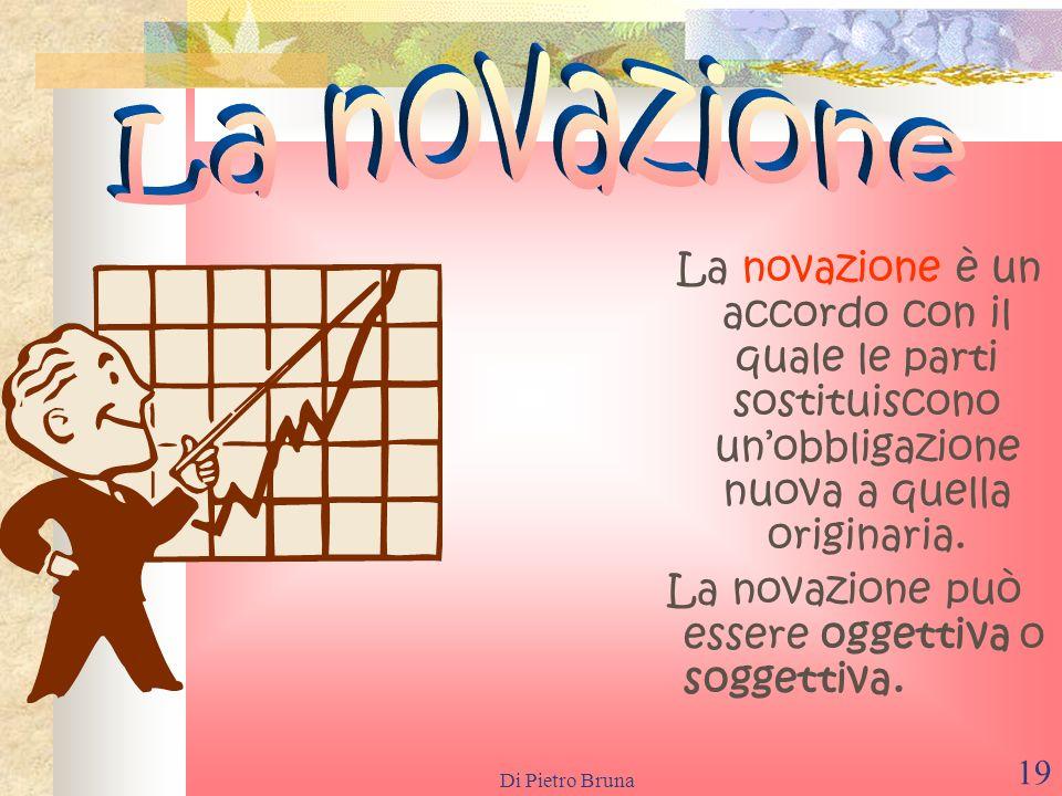 Di Pietro Bruna 18 La confusione è un modo di estinzione dellobbligazione che si attiva quando le qualità di creditore e di debitore si riuniscono nel