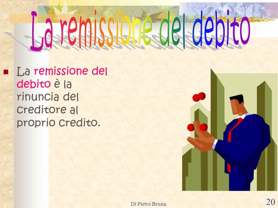 Di Pietro Bruna 19 La novazione è un accordo con il quale le parti sostituiscono unobbligazione nuova a quella originaria. La novazione può essere ogg