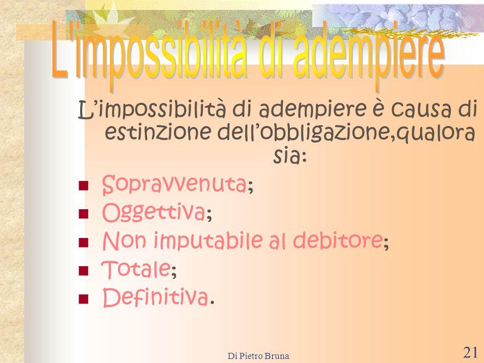 Di Pietro Bruna 20 La remissione del debito è la rinuncia del creditore al proprio credito.