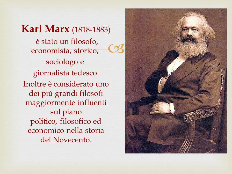 Karl Marx (1818-1883) è stato un filosofo, economista, storico, sociologo e giornalista tedesco. Inoltre è considerato uno dei più grandi filosofi mag