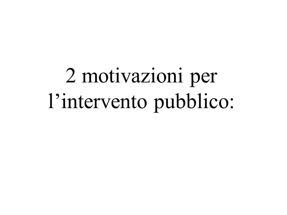 2 motivazioni per lintervento pubblico: