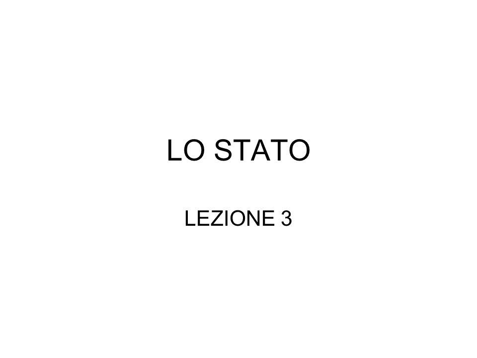 LO STATO LEZIONE 3