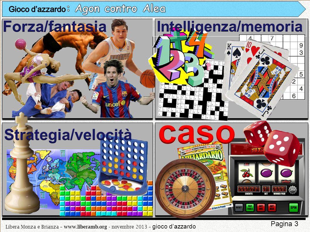 Libera Monza e Brianza – www.liberamb.org - novembre 2013 – gioco dazzardo Pagina 4 Le false credenze (pensiero cognitivo erroneo) e il pensiero magico non appartengono solo al giocatore dazzardo compulsivo.