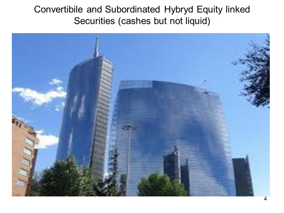 4 Convertibile and Subordinated Hybryd Equity linked Securities (cashes but not liquid)