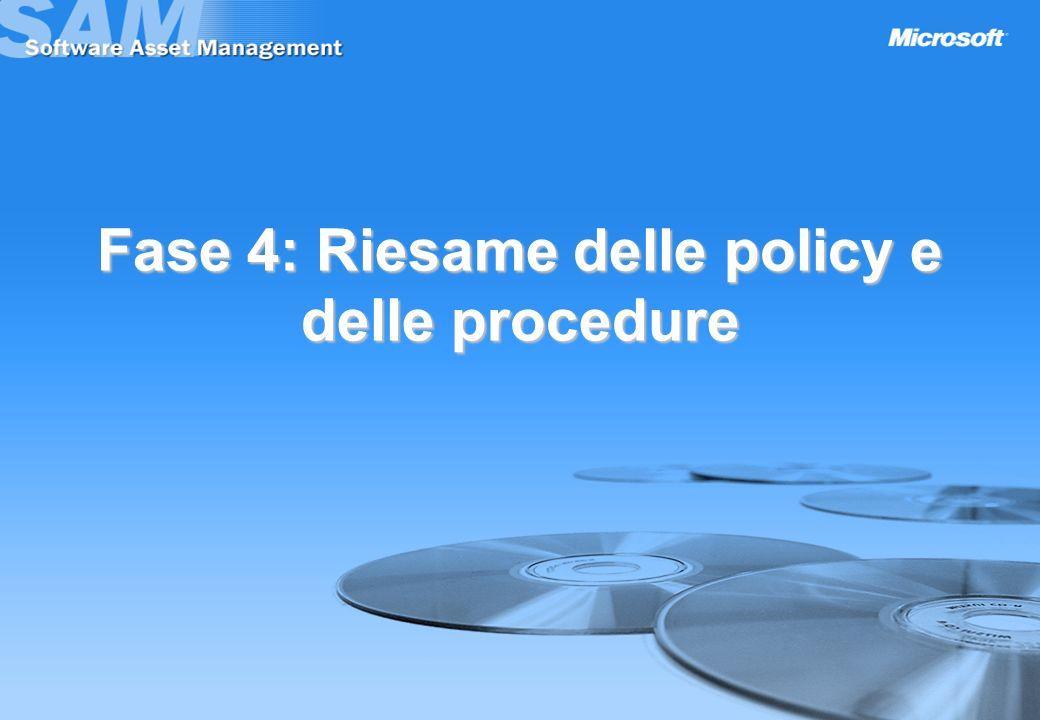 Fase 4: Riesame delle policy e delle procedure