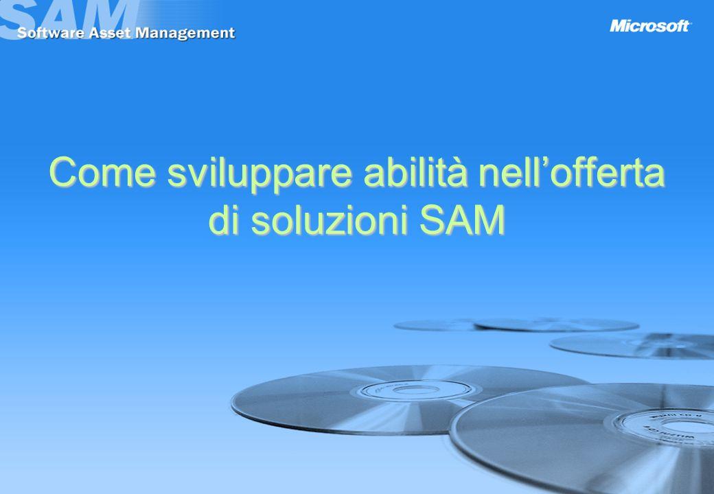 Come sviluppare abilità nellofferta di soluzioni SAM
