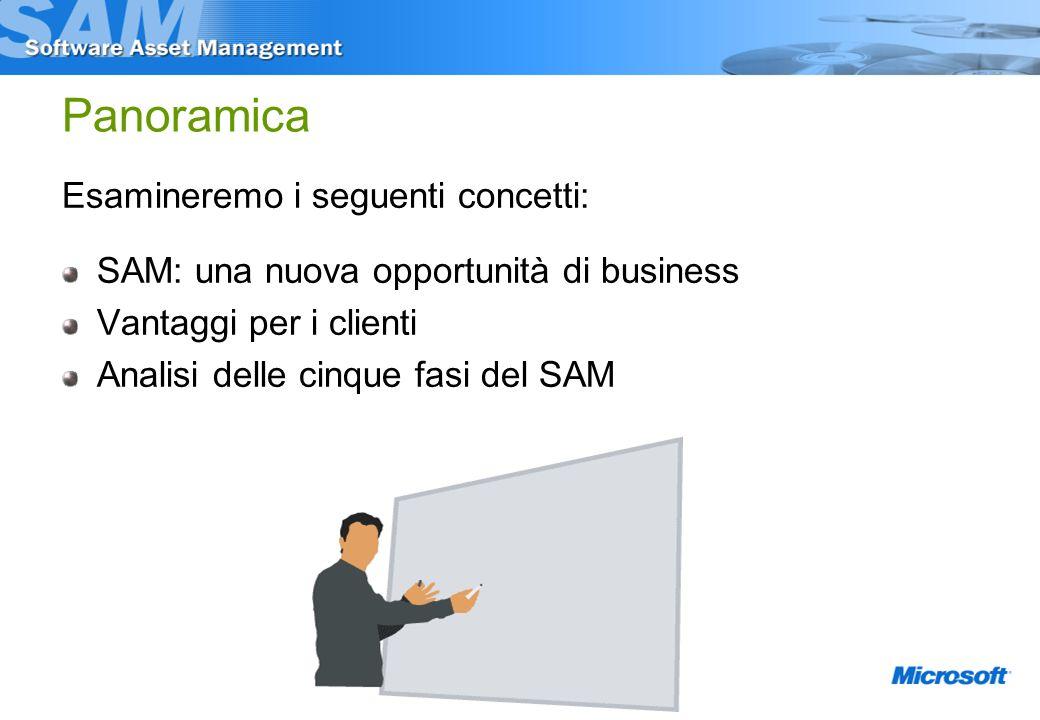 Panoramica Esamineremo i seguenti concetti: SAM: una nuova opportunità di business Vantaggi per i clienti Analisi delle cinque fasi del SAM