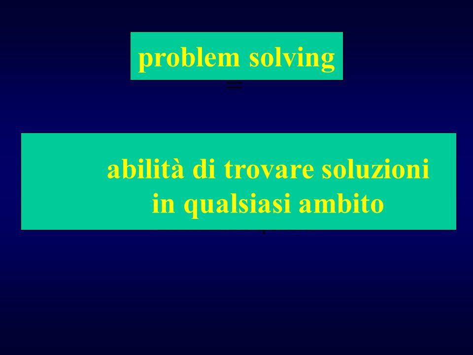 = non tanto la capacità di una persona di risolvere situazioni in una LLLLLmateria specifica abilità di trovare soluzioni in qualsiasi ambito problem