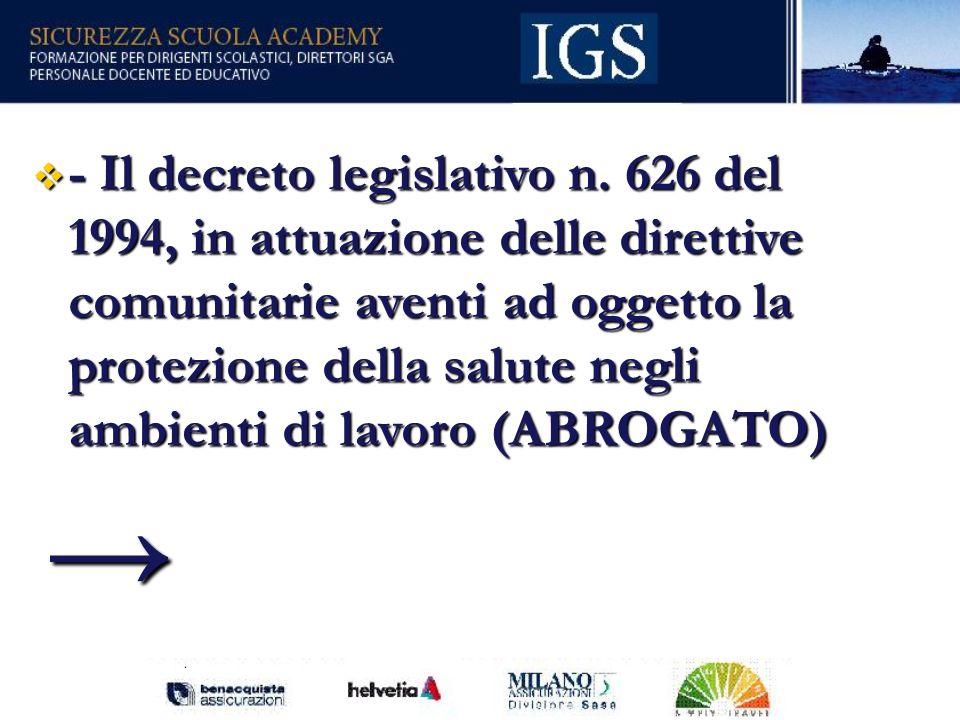 27 - Il decreto legislativo n.