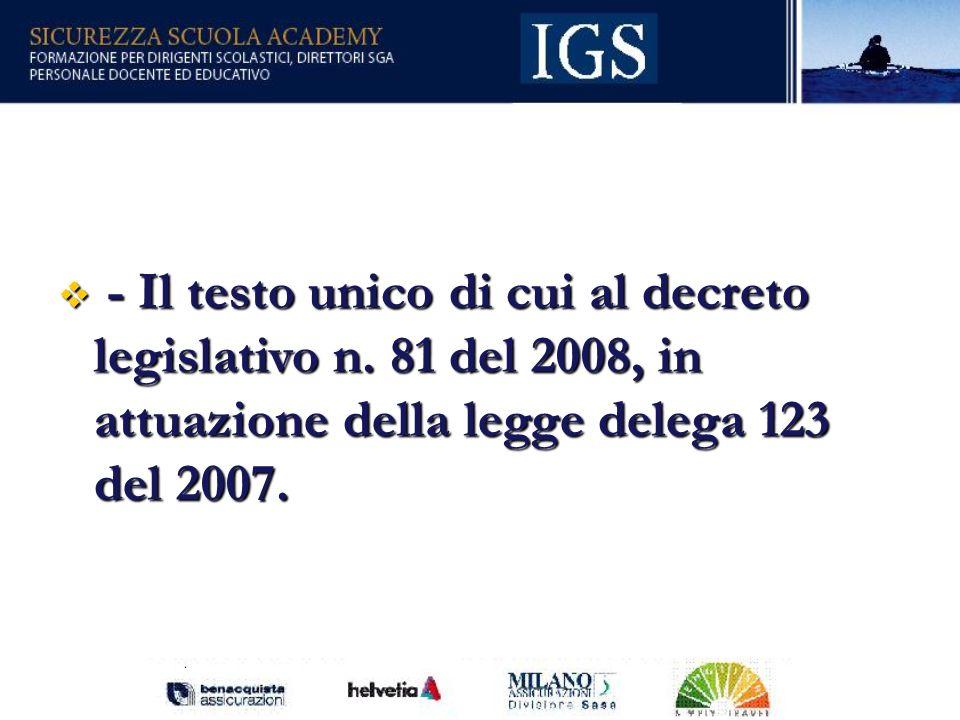 28 - Il testo unico di cui al decreto legislativo n.